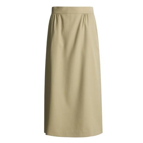 Hawksley & Wight Wool Gabardine Skirt (For Women)