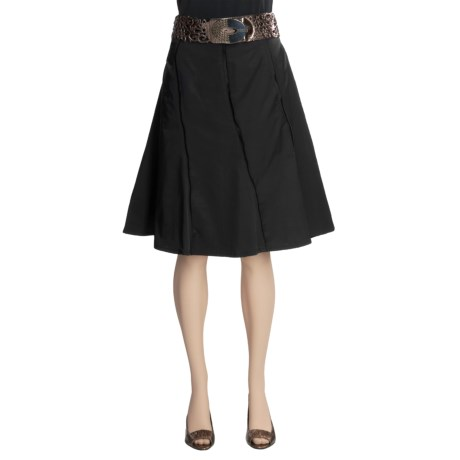 Tribal Sportswear Cotton Sateen Skirt - Belted, Side Zip (For Women)