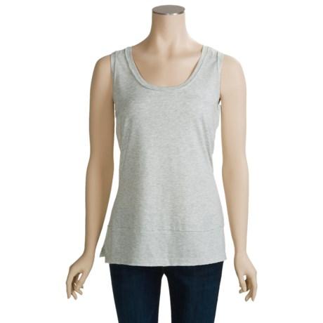 Joan Vass Tank Top - Scoop Neck (For Women)