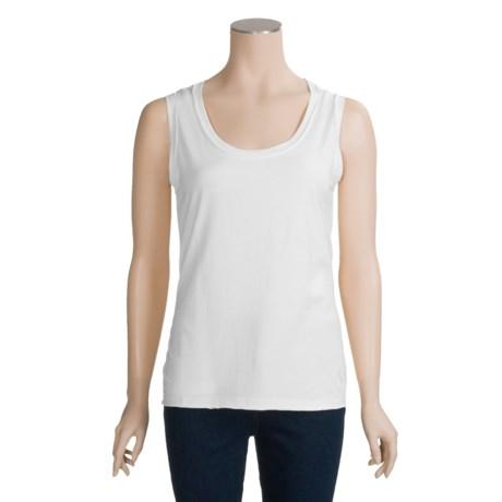 Joan Vass Shell Shirt - Sleeveless (For Women)