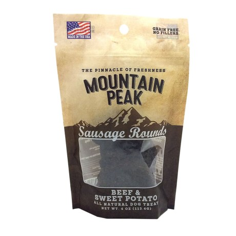 Prairie Dog Mountain Peak Beef and Sweet Potato Dog Treats - 4 oz.