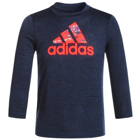 adidas Melange Logo T-Shirt - Long Sleeve (For Big Boys)