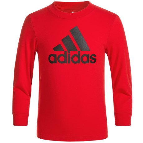 adidas Logo T-Shirt - Long Sleeve (For Big Boys)