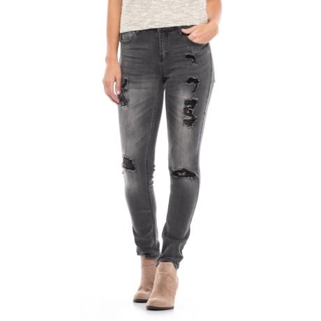 Seven7 Destruction Skinny Jeans (For Women)