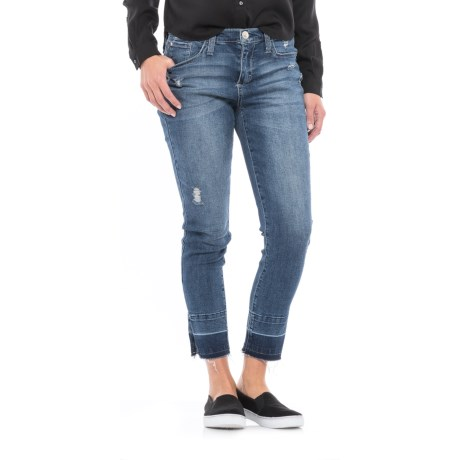 Seven7 Blocked Easy-Fit Skinny Jeans (For Women)