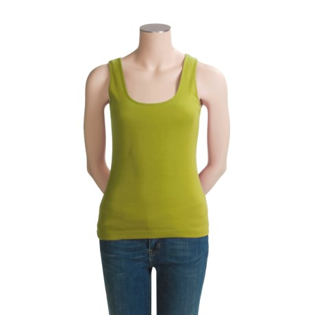 Joan Vass Basic Tank Top (For Women)
