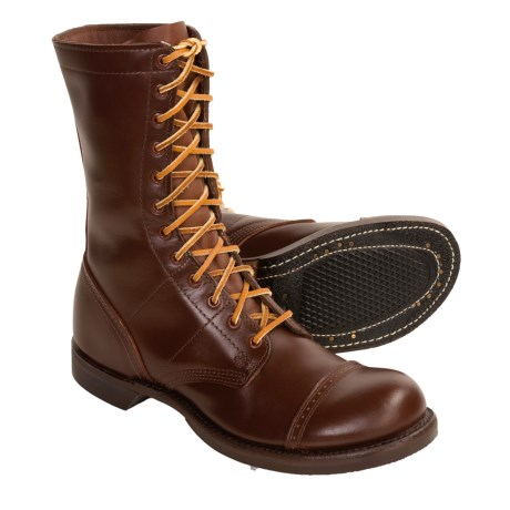 jump boots review of corcoran brown leather jump boots