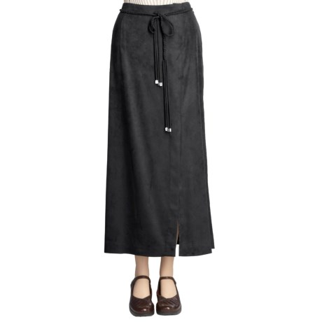 Yansi Fugel Moleskin Faux-Wrap Skirt - Braided Belt (For Women)
