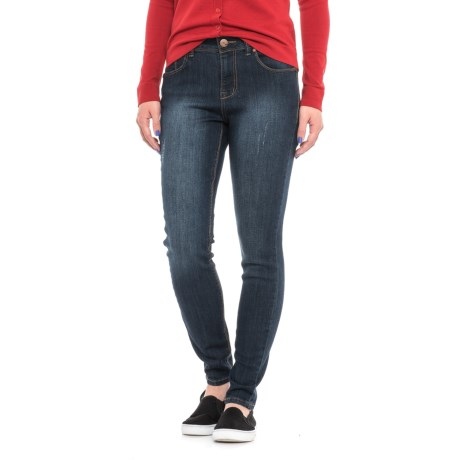 1822 Denim Cuffed Skinny Ankle Jeans (For Women)