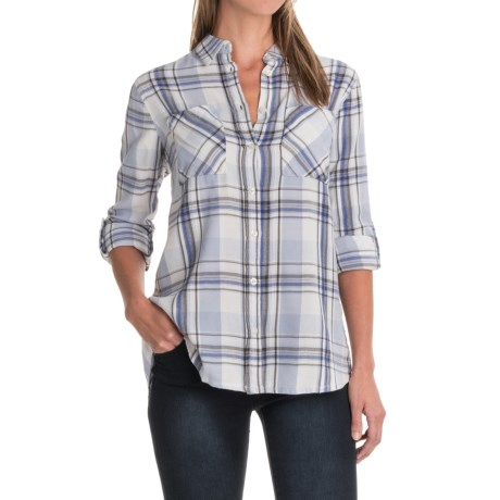 Maison Coupe Twill Herringbone Plaid Shirt - Long Sleeve (For Women)