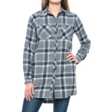 Maison Coupe Grindle Yarn Flannel Tunic Shirt - Long Sleeve (For Women)