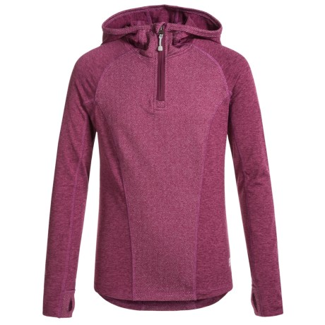 Avalanche Astra Herringbone Hoodie - Zip Neck (For Big Girls)