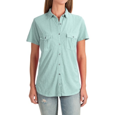 Specially made Two-Pocket Knit Shirt - Short Sleeve (For Women)