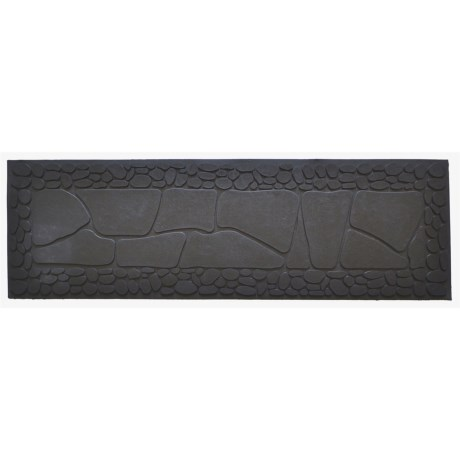 """Imports Décor Imports Decor Embossed Stone Rubber Step Mat - 10x33"""""""