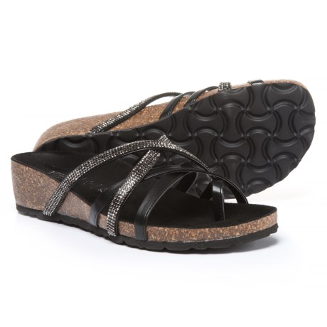 Italian Shoemakers Aware Wedge Sandals - Leather (For Women)