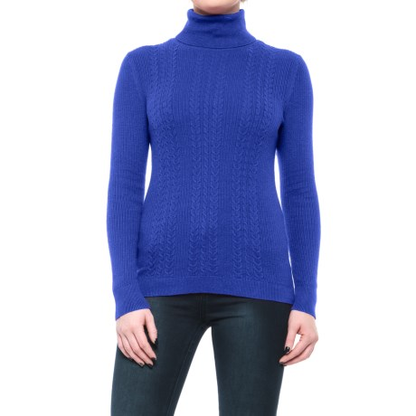 Specially made Cable-Knit Turtleneck Sweater (For Women)