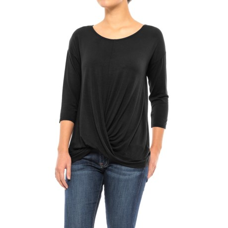 St. Tropez West Front-Knot Shirt - 3/4 Sleeve (For Women)