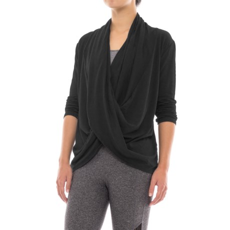 Manduka Twist-Front Shirt - Organic Cotton, Long Sleeve (For Women)