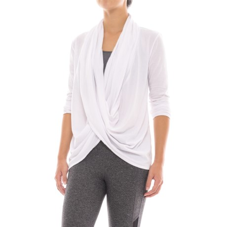 Manduka Twist-Front Shirt - Organic Cotton, Long Sleeve (For Women)