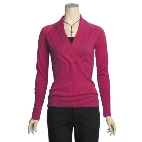 Kinross Worsted Cashmere Sweater - Surplice (For Women)