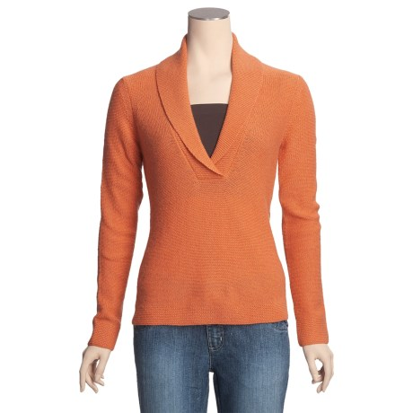 Kinross Cashmere Sweater - Shawl Collar (For Women)