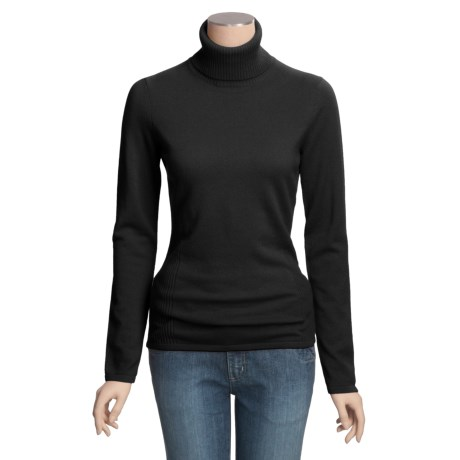 Forte Cashmere Fitted Turtleneck Sweater (For Women)