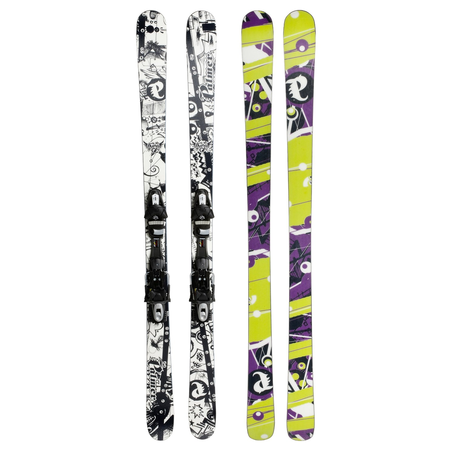 Palmer P03 Park Twin-Tip Skis With Tyrolia SP120 Sympro