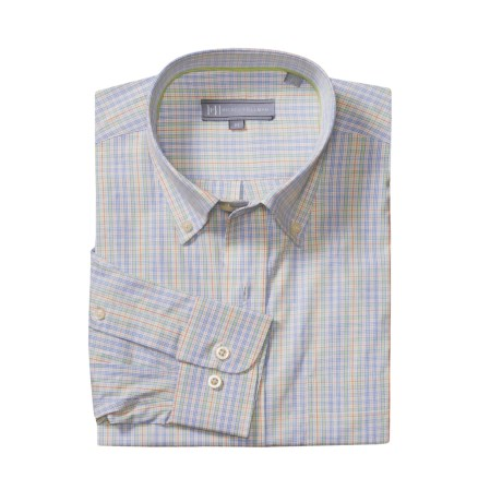 Hickey Freeman Check Sport Shirt - Cotton, Long Sleeve (For Men)