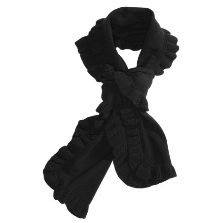 Kinross Cashmere Scarf - Ruffle Trim (For Women)