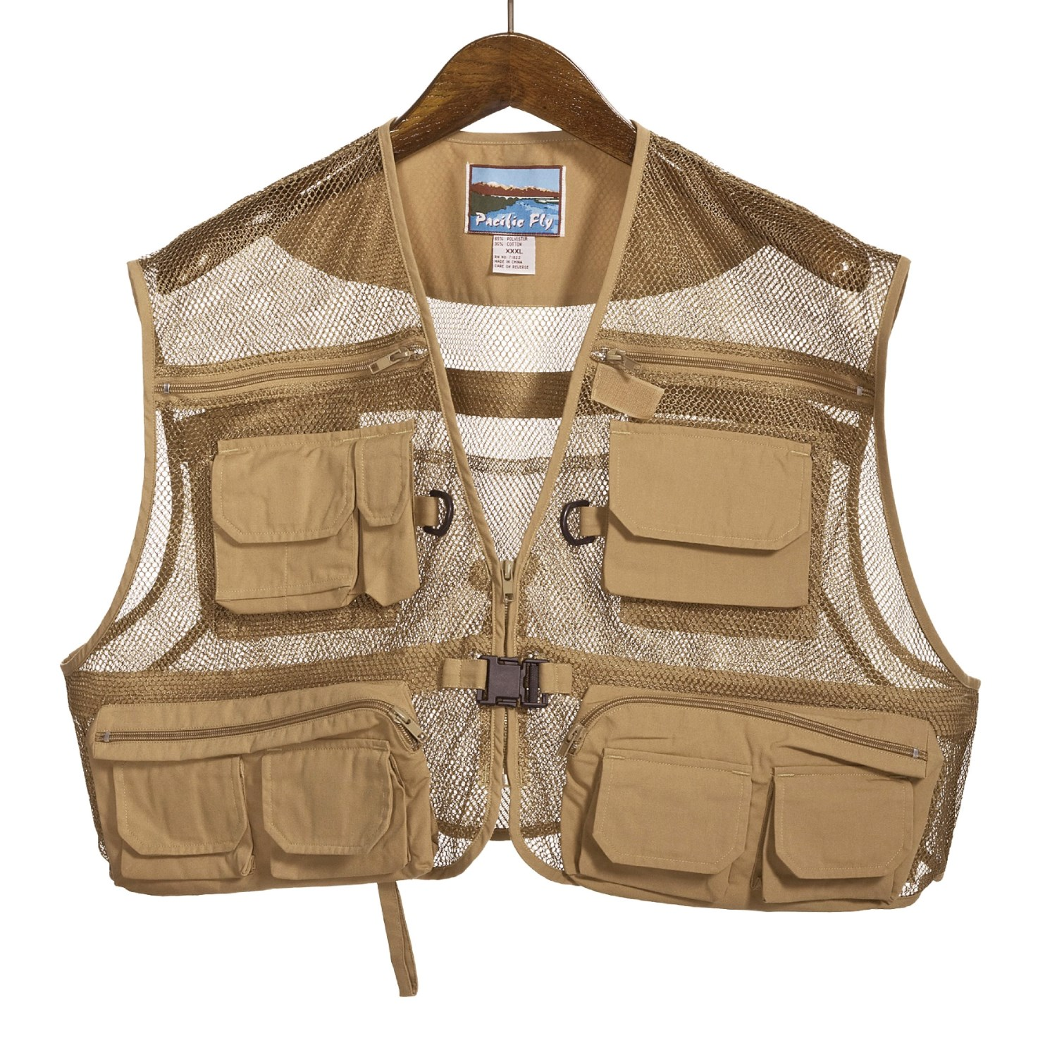 pro cam fis mesh shorty fly fishing vest for men 2879n
