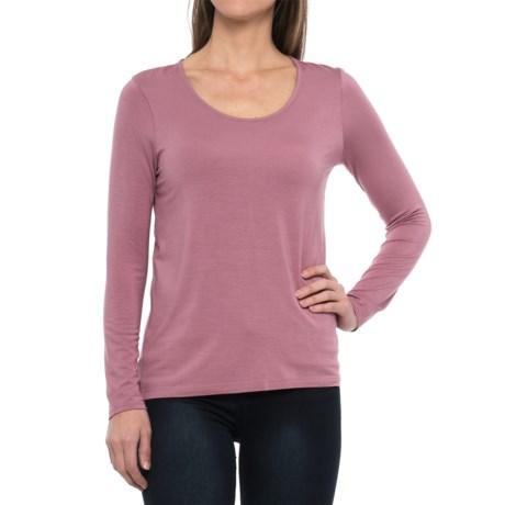 Paraphrase Scoop Neck Shirt - Long Sleeve (For Women)