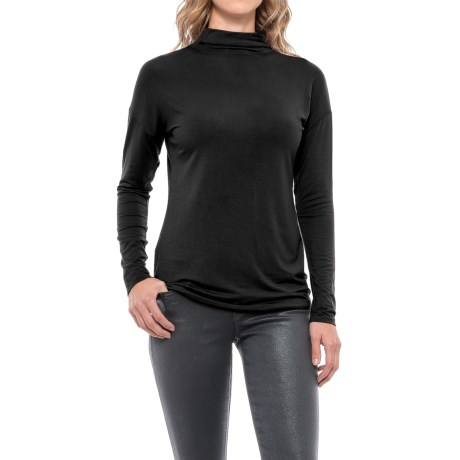 Paraphrase Funnel Neck Shirt - Long Sleeve (For Women)