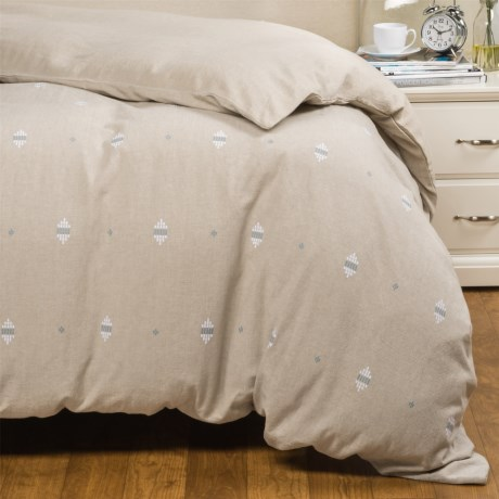 Coyuchi Morro Rock Embroidered Duvet Cover - Organic Cotton, King