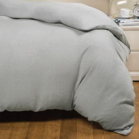 Coyuchi Mediterranean Khadi-Woven Duvet Cover - Organic Cotton, King