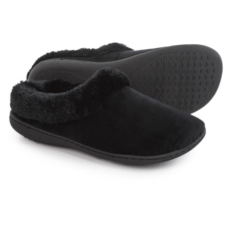 Dearfoams Microfiber Velour Clog Slippers (For Women)