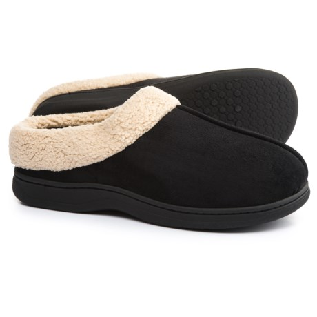 Dearfoams Microfiber Clog Slippers (For Men)