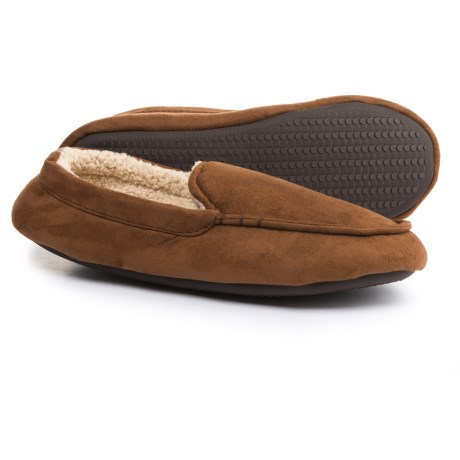 Dearfoams Microfiber Moccasin Slippers (For Men)