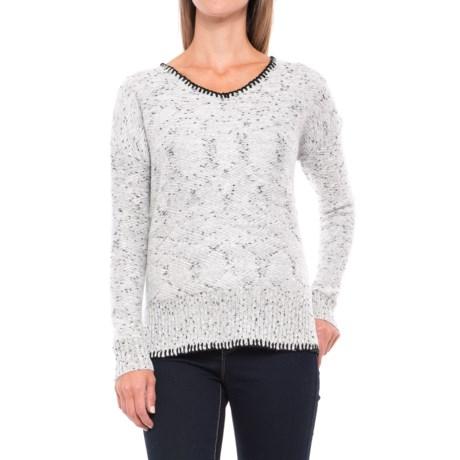 CG Cable & Gauge Drop-Shoulder High-Low Sweater (For Women)