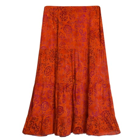 Nomadic Traders Tier Skirt  - Crinkle Rayon  (For Women)
