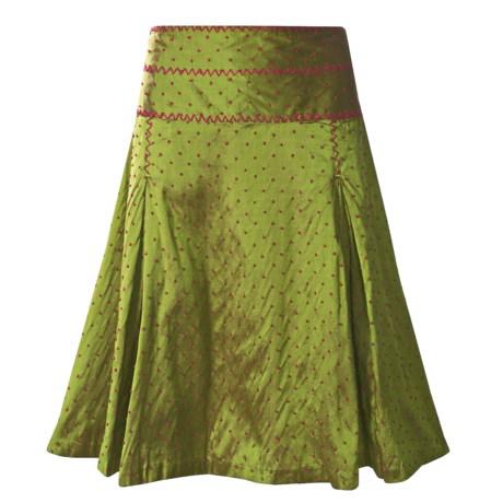 CoVelo Covelo Silk Taffeta Skirt - Zigzag Polka-Dot (For Women)