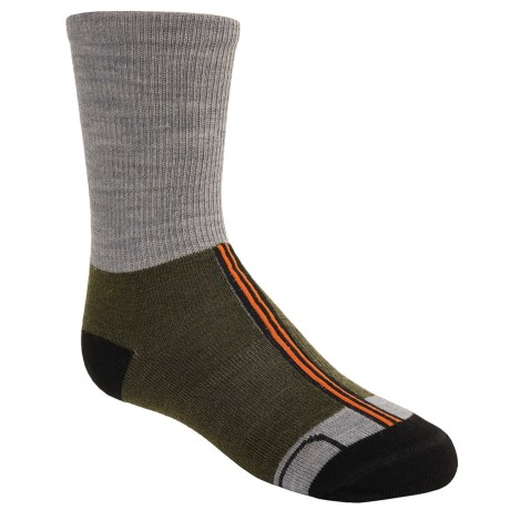 SmartWool On the Color Block Socks - Merino Wool, Crew (For Kids)