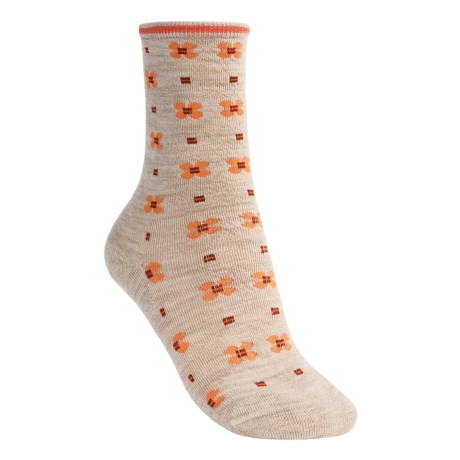 SmartWool Blossom Unwound Casual Socks- Merino Wool, Crew (For Women)