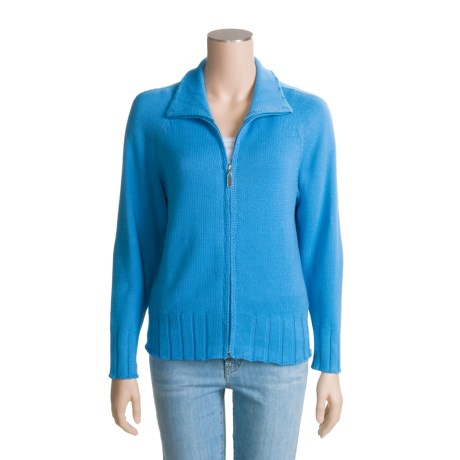 ALPS Ribbed Cardigan Sweater (For Women)