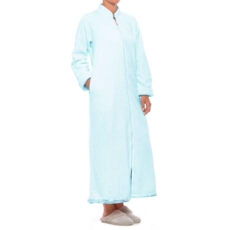 Softies Plush Velour Robe - Full Zip, Long Sleeve (For Women)