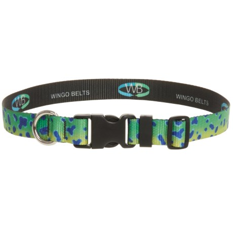 "Wingo Belts Artisan Dog Collar - Adjusts up to 26"""