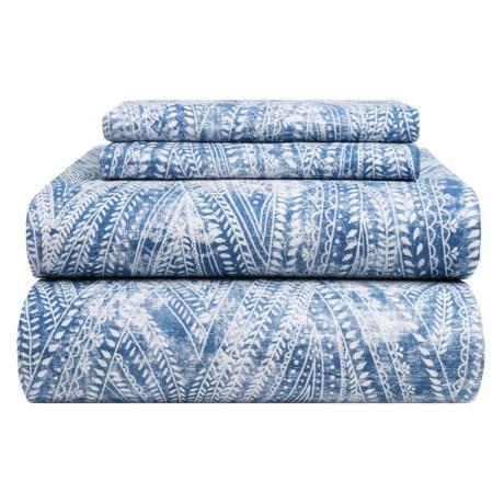 Bambeco Ashbury Organic Cotton Distressed-Print Sheet Set - King, 200 TC