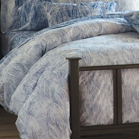Bambeco Ashbury Organic Cotton Distressed-Print Duvet Cover - King