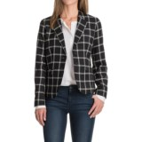Pendleton Two-Pocket Plaid Wool Blazer (For Women)