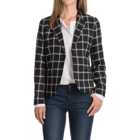 Pendleton Two-Pocket Plaid Wool Blazer (For Women)
