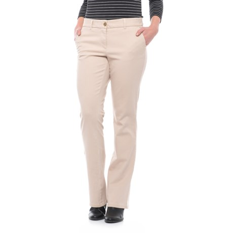 Specially made Four-Pocket Stretch-Twill Pants - Bootcut (For Women)